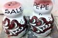 Sale e pepe - fondo rosso