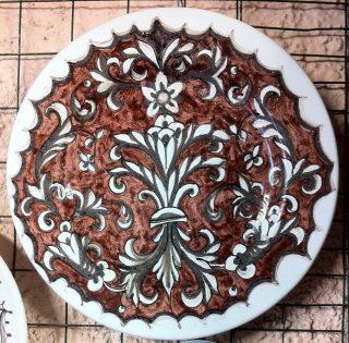 dipinto a mano, ceramica italiana, ornato rinascilmentale
